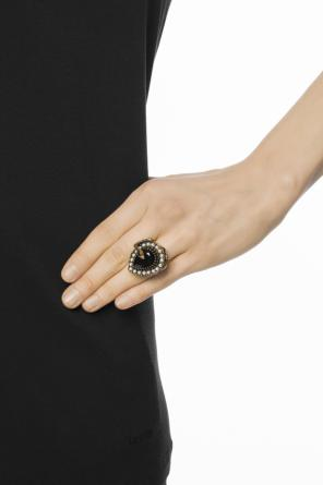 Ring with swarovski crystal od Alexander McQueen
